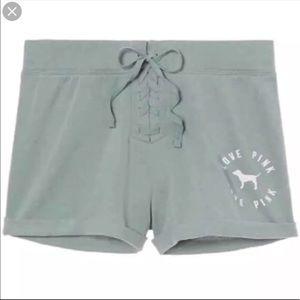 VS Pink lace up boyfriend shorts